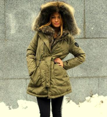 С чем носить зимнюю парку?