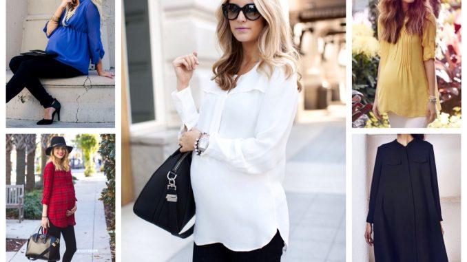 Блузы и туники для беременных